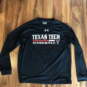 Under Armour Texas Tech baseball long sleeve tee